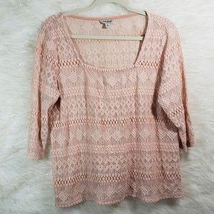 Lucky Brand | Crochet Lace Blouse